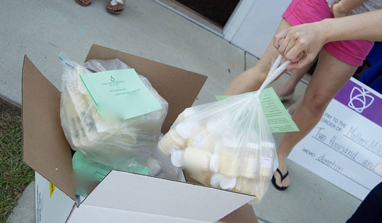 Nini Bambini - First New Hampshire milk depot celebration - lots of milk from moms