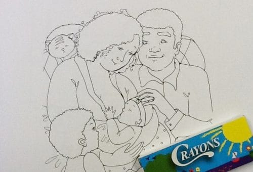 Our Preemie - coloring book cover