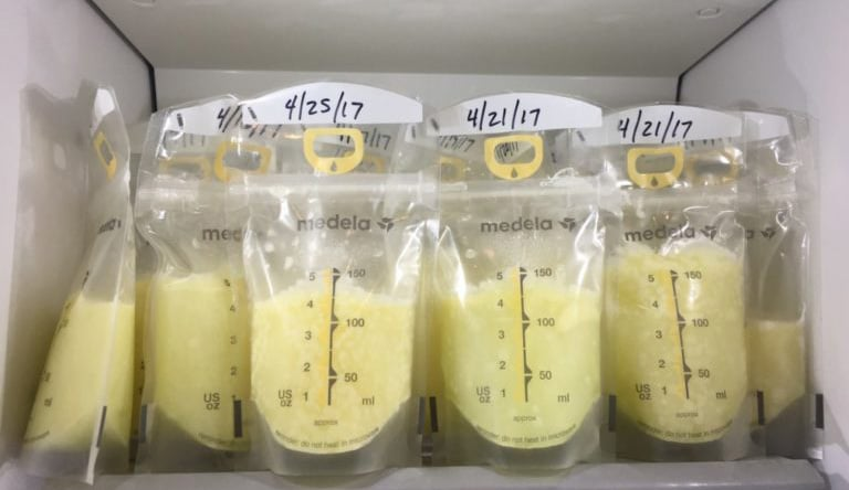 Donate breast milk - milk in freezer