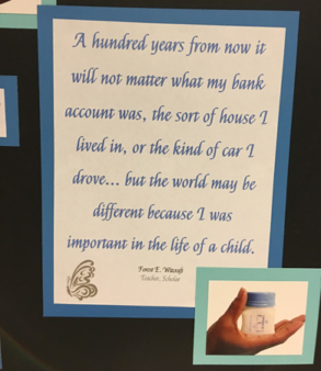 Sign at  the educational display on donor milk