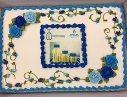 Cake at Norwich branch of Catholic Charities