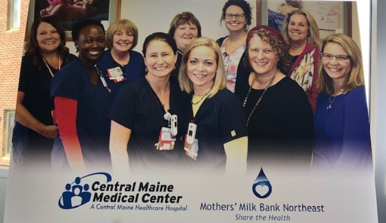 Staff of Central Maine Medical Center and milk bank
