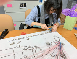 Volunteer design student and milk flows map 2