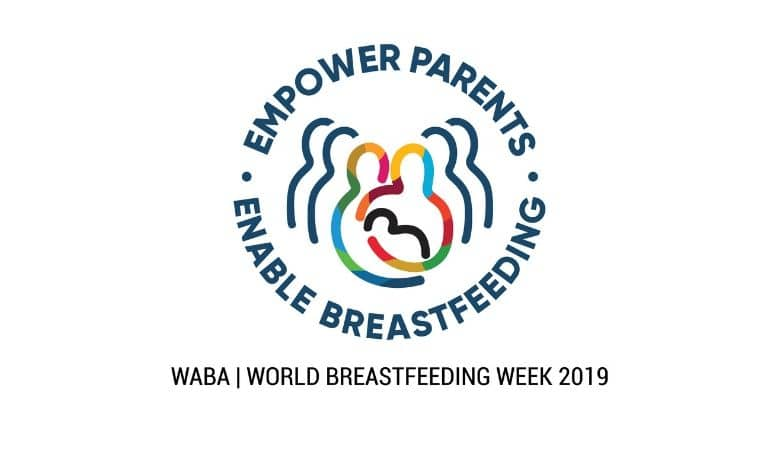 World Breastfeeding Week logo, Empower Parents, Enable Breastfeeding, Leveling Playing Field