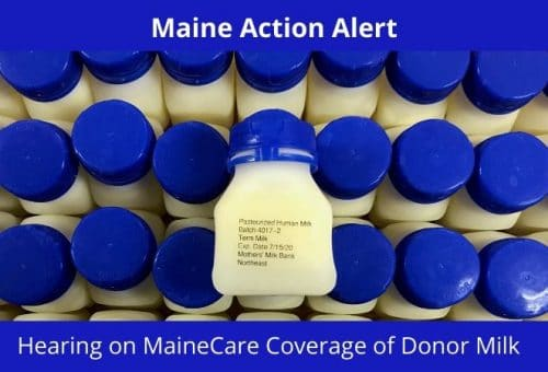 MaineCare donor milk public hearing
