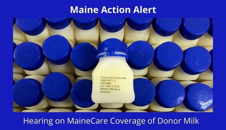 MaineCare donor milk public hearing