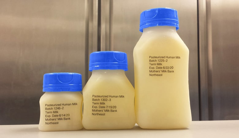 Mothers' Milk Bank Northeast-Three-donor-milk-bottles