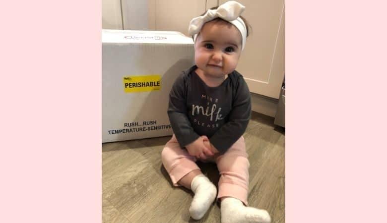 Baby with milk allergy