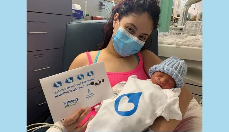 Baby receives milk from Waterbury Hospital donor milk program
