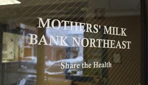 Mother's Milk Bank Northeast - Front door sign