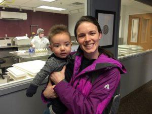 mom and baby at milk bank