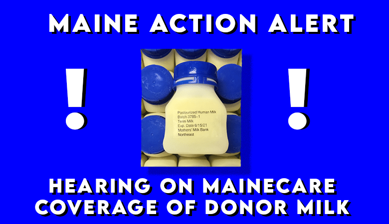 MaineCare donor milk hearing