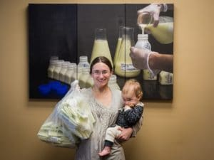 Photographer and milk donor Mira Whiting