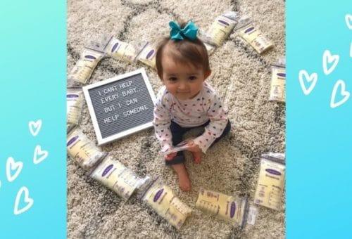 Baby with freezer stash of milk
