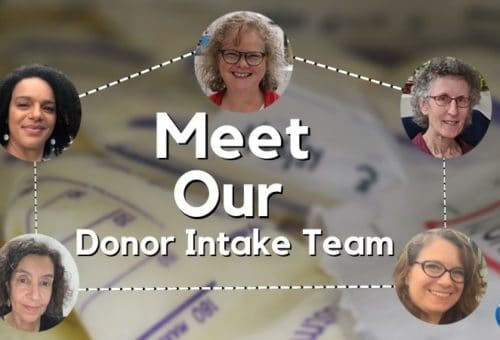 Our Donor Intake Team