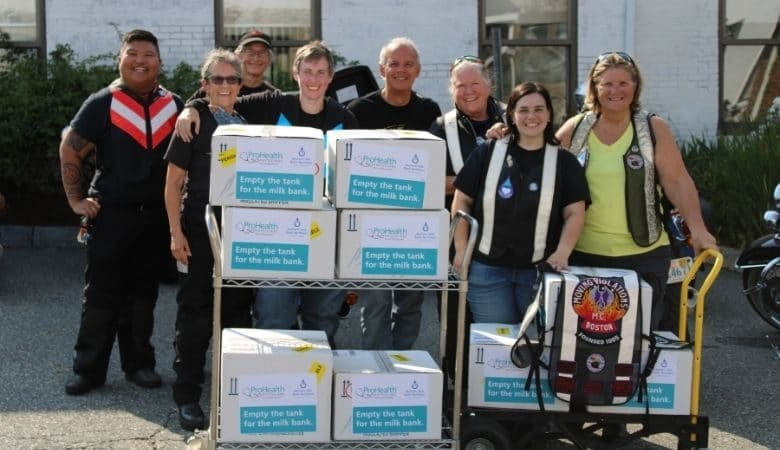 Bikers for Babies empty the tank for the milk bank